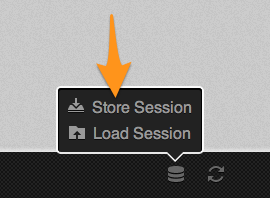 "Hit ""store session"", which is available at the bottom of the app screen"
